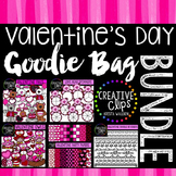 Valentine Clipart Goodie Bag Bundle {Creative Clips Clipart}