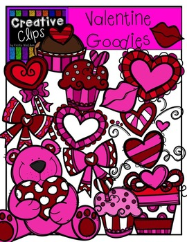 Valentine Goodies {Creative Clips Digital Clipart}