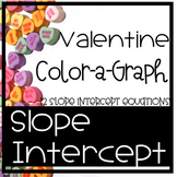 Valentine Graphing Lines, slope intercept form