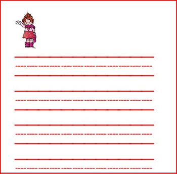 Valentine Graphing and Writing Paper