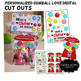 Valentine Gumball Love Digital Valentine Printable Card DIY