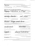 Valentine Handwriting Sheet