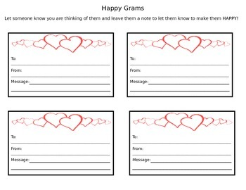 Valentine Happy Grams