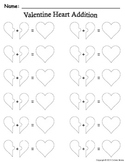Valentine Heart Addition Mat and Addition Sentence Recording Sheet