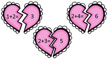 Valentine Heart Addition Puzzle