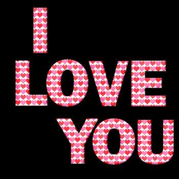 Valentine Heart Alpha - Letters, Numerals, Punctuation, Math Symbols