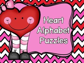 Valentine Heart Alphabet Puzzles