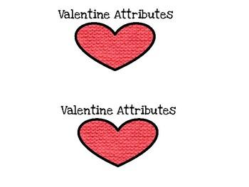 Valentine Heart Attributes easy reader