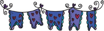 Valentine Heart Banners ~ PopNwow Doodle Banners (Digital Clips)