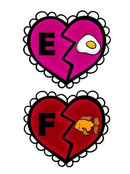 Valentine/Heart Beginning Sound Picture/Letter Matching