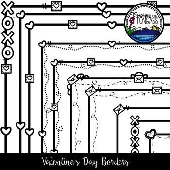 Valentine Borders Clipart Bundle
