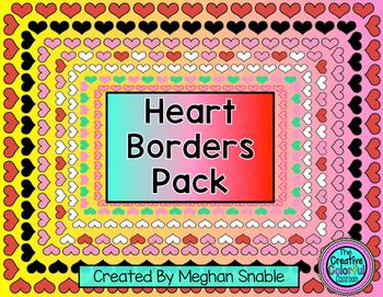 Valentine Heart Borders- Freebie!