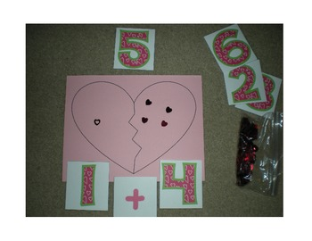 Valentine Heart Break-Apart Math {Compose and Decompose Numbers}