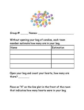 Valentine Heart Candy Group Math Acitivity