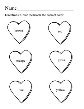 Valentine Heart Coloring Activity