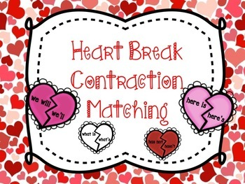 Valentine Heart Contraction Matching