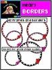 Valentine Heart Frames, Borders & Chalkboard Frames {Sweet Line Design clipart}