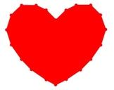 Valentine Heart Graph - Quadrant I