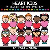 Valentine Heart Kids Clipart
