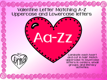 Valentine Heart Letter Matching