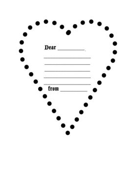 Valentine Heart Letter Paper