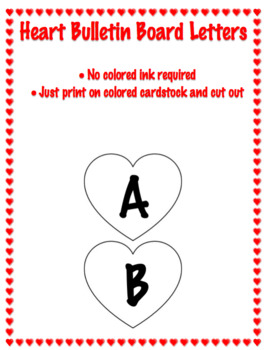 Valentine Heart Letters for Bulletin Boards