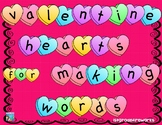 Valentine Heart Letters for Making Words