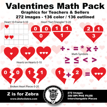 Valentine Heart Math Set 272 Images Commercial Ok Z Is For