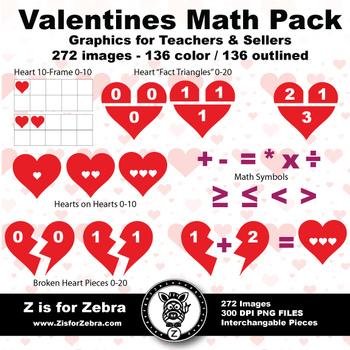 Valentine / Heart Math Set - 272 Images - Commercial OK! -