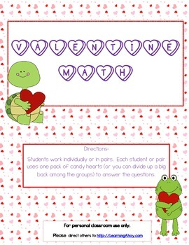 Valentine Heart Math from Learning Ahoy!