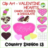 Valentine Clip Art: Colored Candy, Chocolate, Cookie, or B