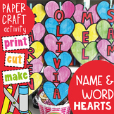 Valentine Heart Name and Word Craft Activity