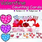 Valentine Heart Number Cards