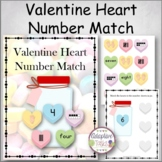 Valentine Heart Number Match