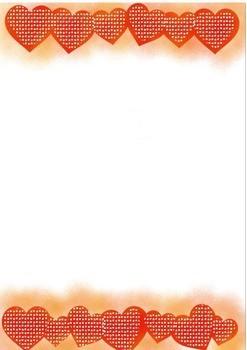 Seller's Kit Valentine Heart Page Borders Digital Papers Frames