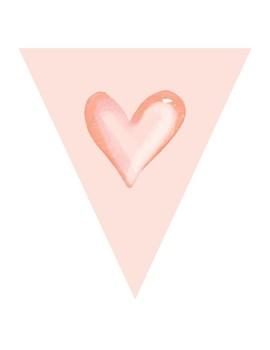 Valentine Heart Pennant Banner