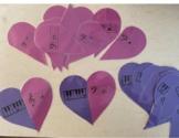 Valentine Heart Piano Key and Grand Staff Note Match