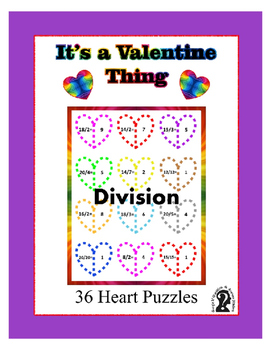 Valentine Heart Puzzles  ~ Division ~ Printables