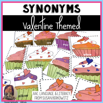 Valentine's Day Synonyms for Speech Therapy or ELA Vocabulary