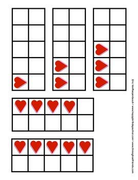 Valentine Heart Ten Frames
