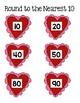 Valentine Heart Theme Rounding File Folder Game