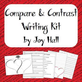 Valentine / Heart Themed Compare & Contrast Writing Kit {Differentiated}