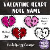 Valentine Heart Treble Clef Note Name Match