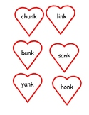 Valentine Heart Word Study Glued Sound -ng and -nk