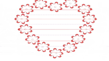 Valentine Heart Writing Paper/ Valentine Card Template by MissO\'sPlace