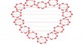 Valentine Heart Writing Paper/ Valentine Card Template