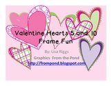 Valentine Hearts 5 and 10 Frame Fun, composing and decompo