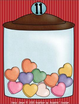 Valentine Hearts Addition Jars