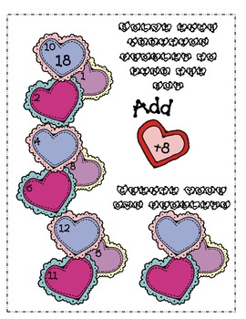 Valentine Hearts Addition and Subtraction