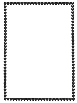 Valentine Hearts Borders and Frames {Set of 10}